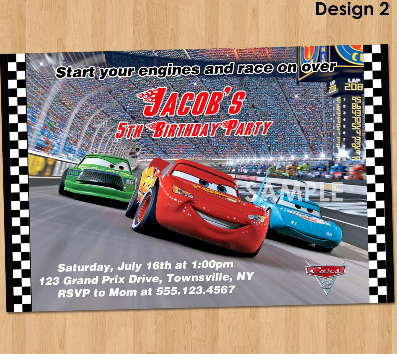 Disney Cars Invitation Cars Birthday Invitation Disney