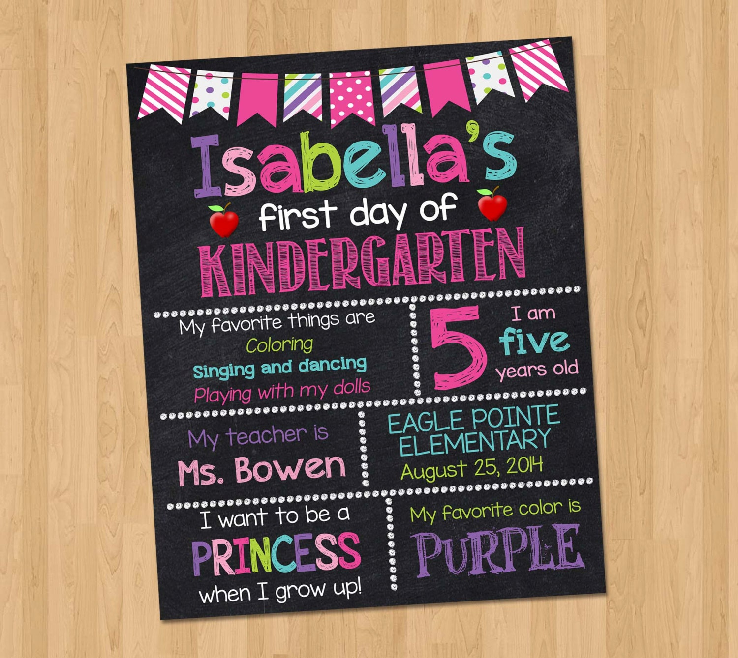 It's just a picture of Obsessed First Day of Kindergarten Sign Printable