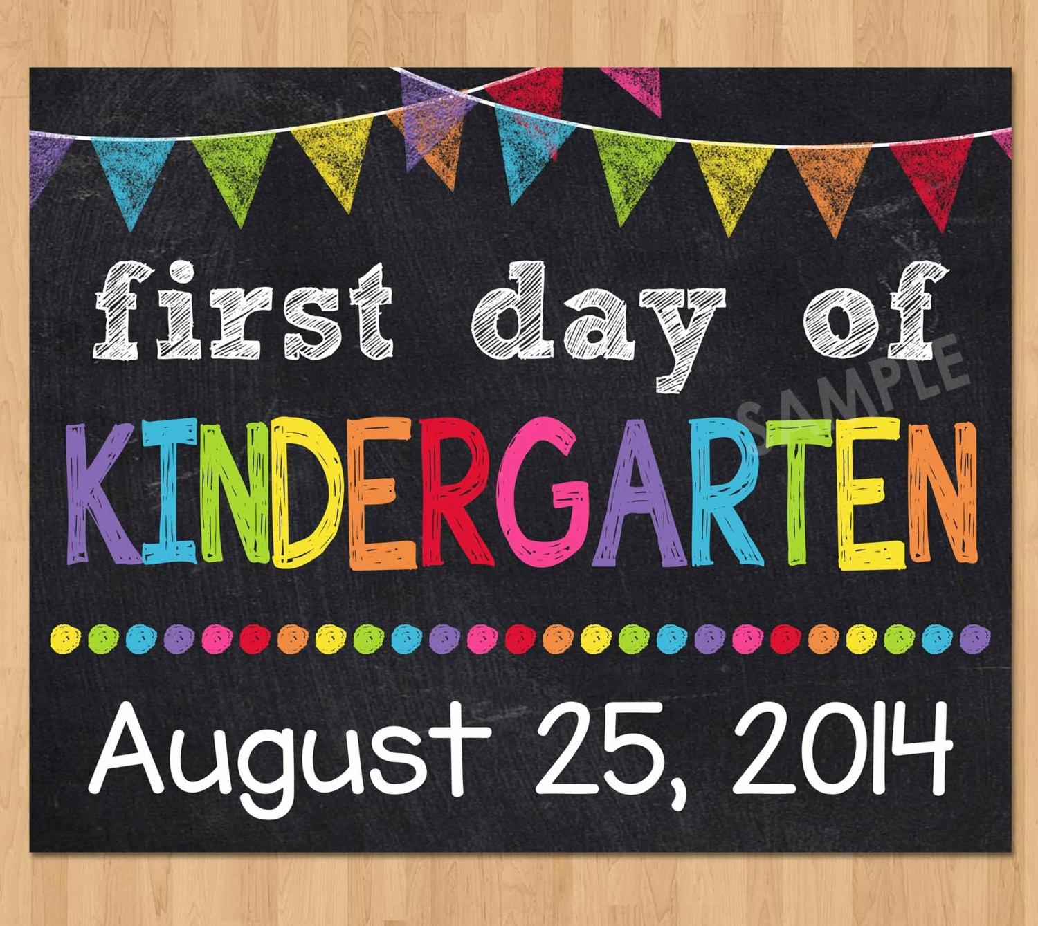 It's just an image of Genius First Day of Kindergarten Sign Printable