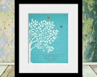 "Roots and Wings Quote, ""Thank You For Giving Us Both"",  Unique Keepsake Gifts, Thank You Wall Print, Parents Gifts, Thank You Gifts"