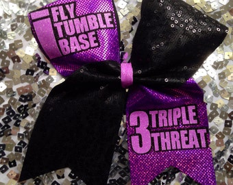 Full size cheer bow- triple threat!