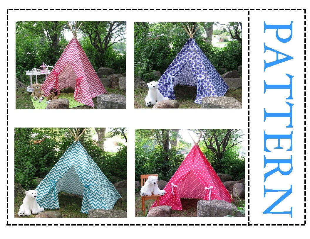 Teepee Pattern for Chevron Fabrics or fabrics with large