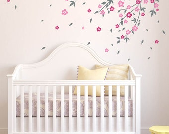 cherry blossom tree wall decal wall decals for nursery decals baby boy room designs baby room designs by decalisland baby boy nursery sd 042 - Wall Decals Designs