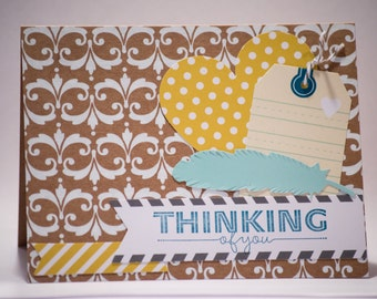 Thinking of You Card - Blank Inside - Hand Stamped - Stampin' Up!