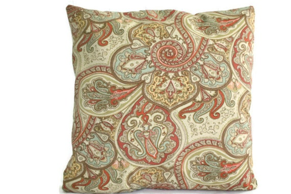 Waverly Decorative Throw Pillows : Waverly Outdoor Paisley Decorative Throw Pillow Case Cover