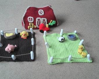 Crochet Farmyard playset