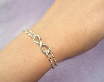 Infinity bracelet, Silver infinity bracelet, Infinity bracelet UK, Gifts, Minimalist jewelry, Infinity jewelry Minimalist bracelet