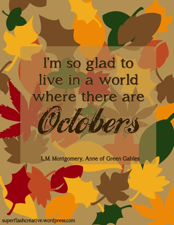 October quote print at Superflash Creative