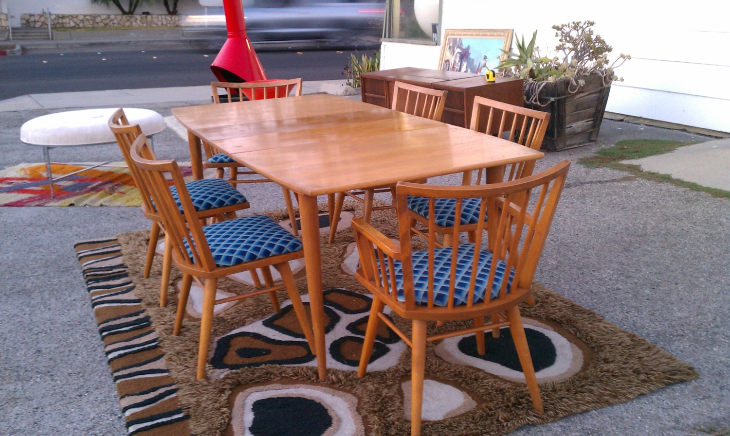 Vintage Russel Wright Conant Ball Dining Table 6 By Digsmodern