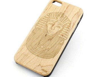 W92 Wood Case for Apple Iphone 5C - Pharaoh