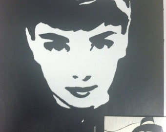 Audrey Hepburn Print from Original Charcoal Drawing Glamour No. 2 Breakfast at Tiffany's Holly Golightly Funny Face