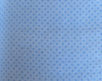 Flannel, Cotton Flannel Fabric,  Blue Tone on Tone Dots by Fabri-Quilt, Fabric, By the Yard, fl101