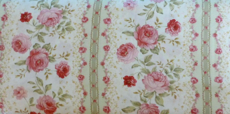 Cotton Fabric Quilt Cotton Home Decor Fabric Floral Pink