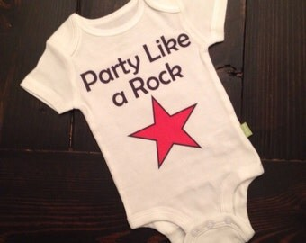 Party like a rock star onesie for baby