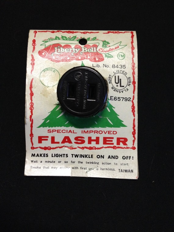 Liberty Bell Christmas Light Flasher Plug by VarietyRetro on Etsy