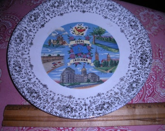 Vintage Indiana Souvenir Plate