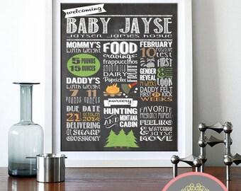 Baby Shower Chalkboard Sign, Chalkboard Baby Shower, digital art print, Digital File, Chalkboard Sign, Baby Shower, Baby Shower Invites