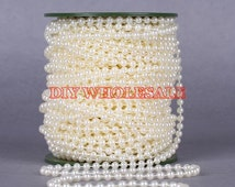 Wholesale 5mm ABS  ivory  Plastic pearl String / Garland for wedding decor / DIY accessories 50Meter / roll