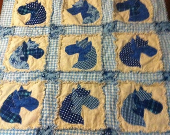 Toddler Size Ragtime Horse Quilt