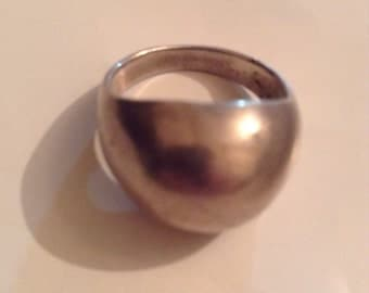 Vintage Mod Sterling Silver Domed Ring
