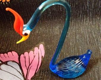 Vintage Italian Murano Glass Swan