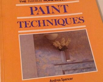 Vintage Paperback Habitat Paint Techniques Book - Shabby Chic And Antiquing