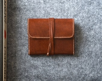 Hand-stitched leather wallet