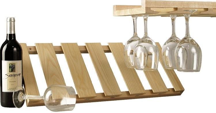 Bei Ikea Malm Bett Kracht Der Lattenrost Runter ~   (28 00 USD) Maple Wood Stemware Under Cabinet Wine Glass Holder