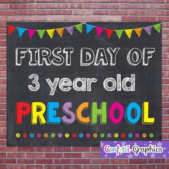 free preschools for 3 year olds day of 3 three year preschool school chalkboard sign 879