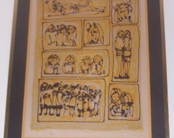 Rare 1969 YANNI POSNAKOFF Hand Signed & Numbered (74/175)  GREECE Art Litho Print
