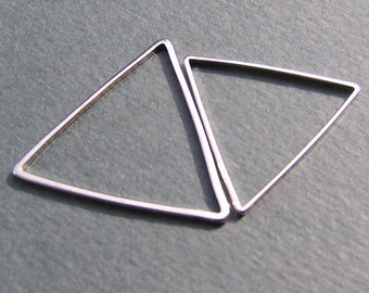 30mm Silver Triangle Link Charm Popular Link Modern Jewelry Supply Sale 8 pcs