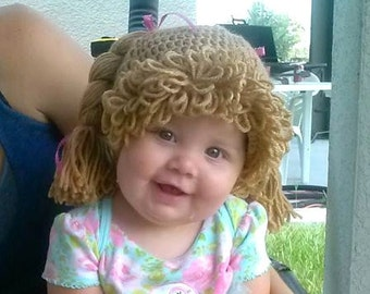 Cabbage Patch Kid wig hat. MADE TO ORDER