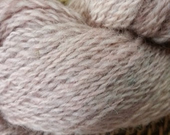 Hand-dyed Sport Weight 100 % Wool Dusty Mauve