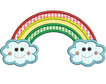 RAINBOW Applique Design - Instant Download Digital File - Machine Embroidery