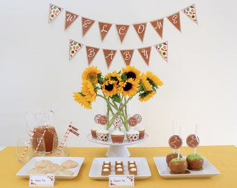 INSTANT DOWNLOAD - Fall Baby Shower Package - Autumn Baby Shower
