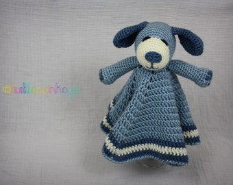 Playful Puppy Lovey Blanket - Crochet Security Blanket Plushie