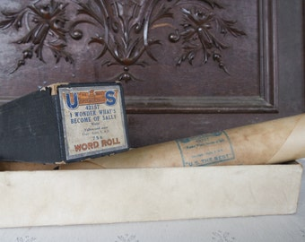 Vintage player piano word roll I Wonder What's Become Of Sally waltz