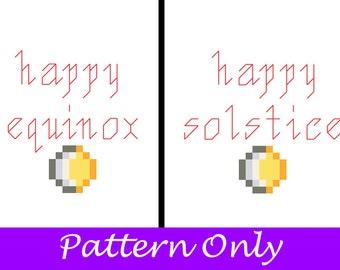 Happy Solstice / Equinox Cross Stitch Pattern Pack