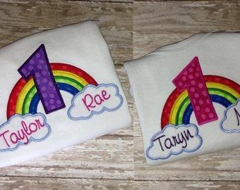 Rainbow Birthday Onesie/Shirt (Short Sleeve)