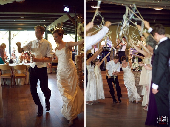 125 Wedding Wands Quadruple Streamers With Bells Ribbons