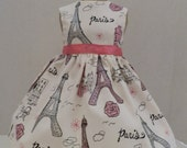 "American Girl Doll Clothes Dress Fits 18"" Doll - Paris Eiffel Tower Ooh La La"