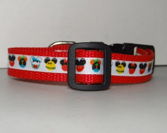 "3/4"" Dog Collar *Mouse Ears* Xsmall, Small * Adjustable Buckle Collar"