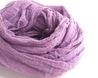 Orchid Scarf, Orchid Cotton Scarf, Lightweight Cotton Gauze, Pastel Purple Scarf, Purple Cotton Scarf, Spring Lavender Scarf, Extra Long