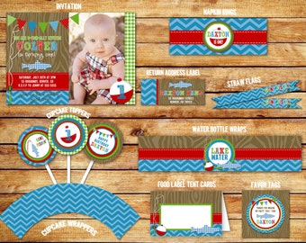 Fishing Birthday Ultimate Party Package - Printable