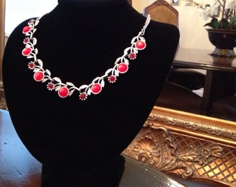 Charming Cherries Jubilee Vintage Necklace