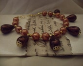 Recrafted bracelet. Mulberry beading