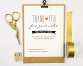 Business Thank You Cards INSTANT DOWNLOAD - Lovingly Artsy