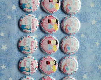 """Princess Cinderella Buttons, Bippity Boppity Boo, 1"""" Flatback Buttons, 15 Buttons Total"""