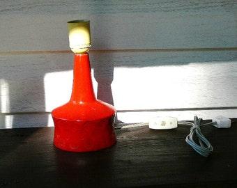 Table Lamp Base by Abbednes Poteri, Orange Lamp, Swedish Vintage, Scandinavian Design, Lighting, Deco Lamp @78