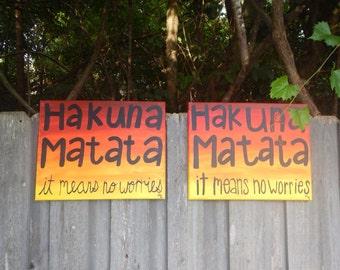 Hakuna Matata Wall Art
